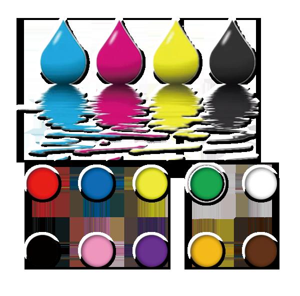 高速喷印,彩色内容